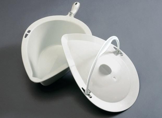 Clean douche- toiletstoel griondersteek met deksel